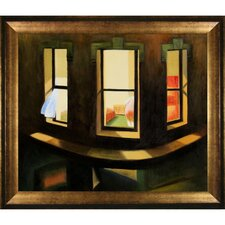 Hopper Night Windows Canvas Art