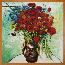 Van Gogh Vase with Daisies and Poppies Canvas Art
