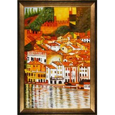Klimt Malcesine on Lake Garda Canvas Art