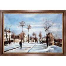 Street in the Snow, Louveciennes Canvas Art