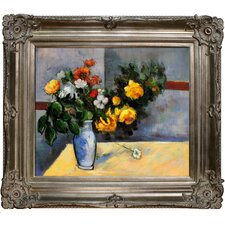 Still Life Flowers in Vase Canvas Art