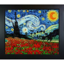 Starry Poppies Collage (Artist Interpretation) Canvas Art