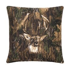 Camo Deer Cotton Square Pillow