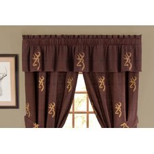 Buckmark Cotton Rod Pocket Tailored Curtain Valance