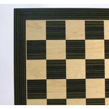 "22"" Ebony and Maple Veneer Chess Board"