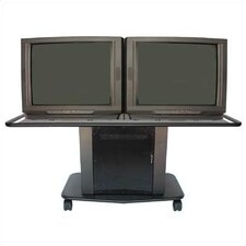 "Acero Series 32"" Tall Cart - Dual Platform (Optional Speaker Module Available)"