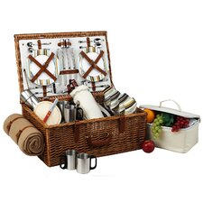 Dorset Basket for Four with Coffee set and Blanket in Santa Cruz