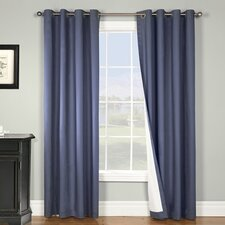 Nantucket Cotton Grommet Energy Efficient Window Curtain Single Panel