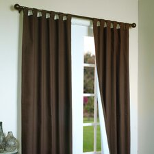 Thermalogic Insulated Solid Cotton Tab Top Curtain Single Panel