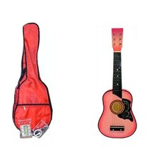 Kids' Toy Acoustic Guitar Kit in Pink