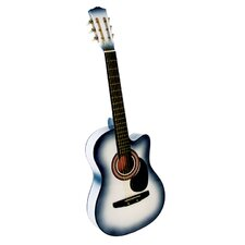 Acoustic Cutaway Guitar with Gig Bag and Accessories in White
