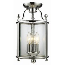 Wyndham 3 Light Semi Flush Mount