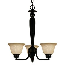 Huntingdale 3 Light Chandelier with Metal Frame