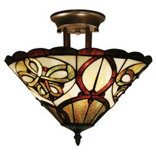Albany 3 Light Semi Flush Mount