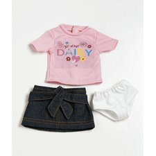 "18"" Doll Clothes - Daisy  T-Shirt / Skirt Set"