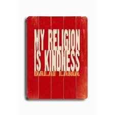 "My Religion Planked Wood Sign - 20"" x 14"""