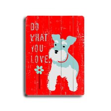 "Do What You Love Planked Wood Sign - 20"" x 14"""