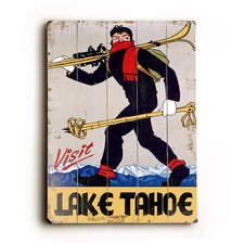 Visit Lake Tahoe Wood Sign