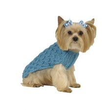 Trellis Cable Dog Sweater with Hat