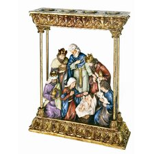 Nativity Votive Candle Holder