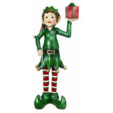 Elf with Gift Box Statue
