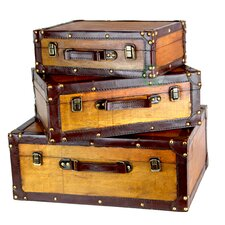 Old Vintage Suitcases (Set of 3)