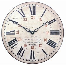 Station Wall Clock with 24 Hour Numerals