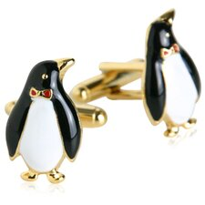 Penguin Cufflinks in Gold