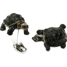 Turtle Cufflinks Hand Painted