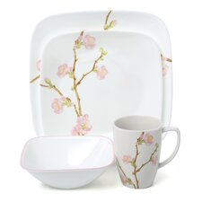 Cherry Blossom Square 16 Piece Dinnerware Set