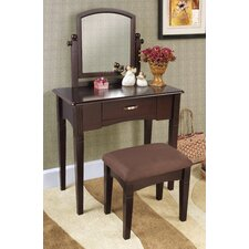 3-Piece Vanity Set in Espresso