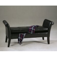 Leatherette Storage Bedroom Bench