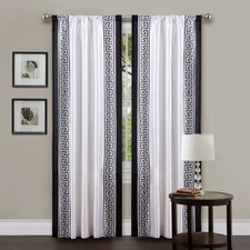 Metropolitan Rod Pocket Curtain Single Panel with Tieback