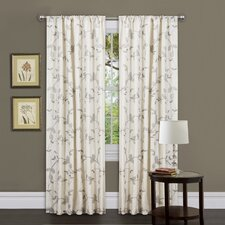 Garden Rod Pocket Curtain Single Panel with Tieback