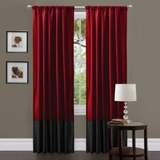Milione Fiori Rod Pocket Curtain Panel Pair