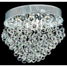 "Galaxy 16"" 8 Light Semi Flush Mount"