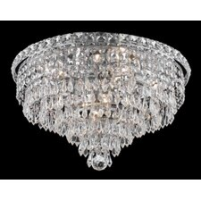 Tranquil 8 Light Semi Flush Mount