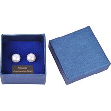 Bret Roberts Round Cut Freshwater Pearl Stud Earrings