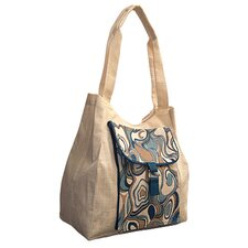 Natural Aquarelle Shopping Tote