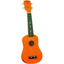 Soprano Ukulele with Orange Match Case