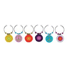 Peaceful Garden Wine Charm (Set of 6)