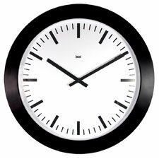 Jumbo Wall Clock Railroad in White