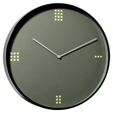 Modernist Steel Wall Clock Dominos