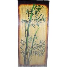 Natural Bamboo Scene Curtain Single Panel