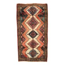 Kourd Rust Tribal Medallion Rug