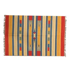 Turkish Kilim Striped Rug