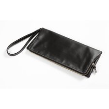 Carina Foldover Clutch in Black