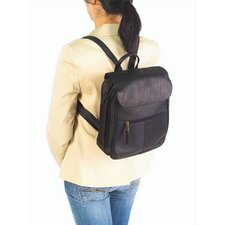 Vachetta Flap Organizer Backpack