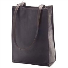 Vachetta Lunch Box Style Tote in Café