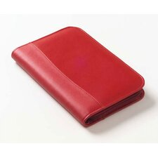 Colored Leather  Zip Junior Portfolio
